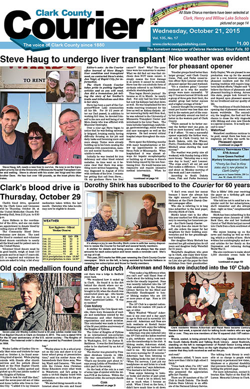 10-21 Clark Courier front page